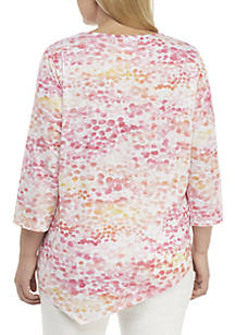 55f0f86a6ac ... Alfred Dunner Plus Size Palm Coast Scenic Knit Top