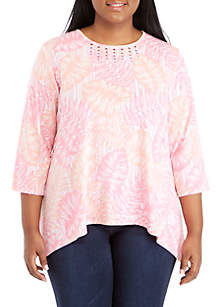 Plus Size Palm Coast Knit Top