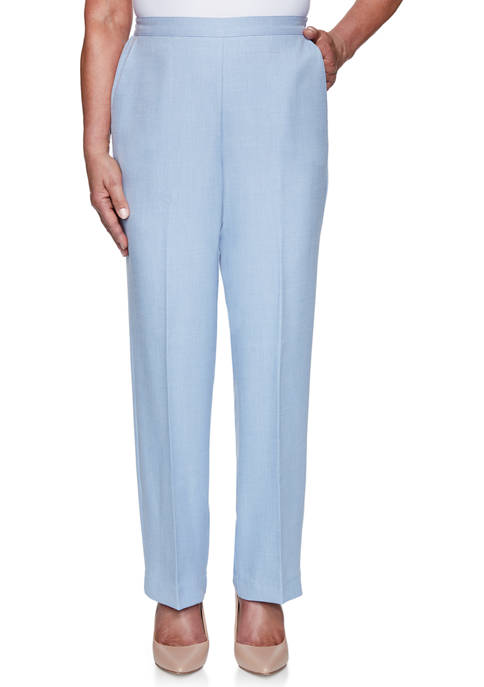 Alfred Dunner Womens French Bistro Proportioned Medium Pants