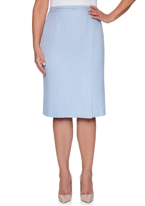Alfred Dunner Womens French Bistro Skirt