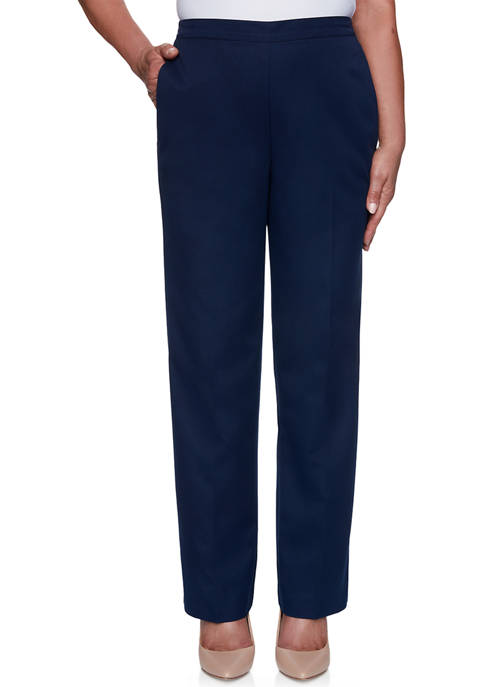 Alfred Dunner Womens Anchors Away Proportioned Medium Pants