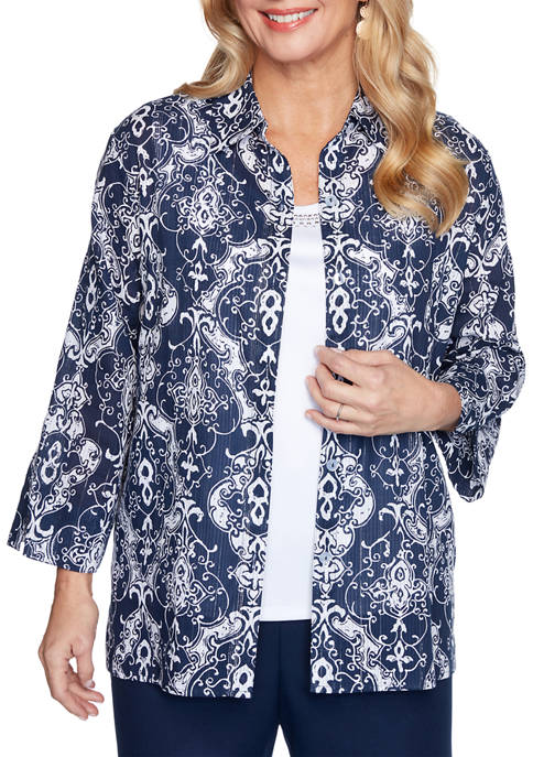 Womens Medallion Two for One Shirt