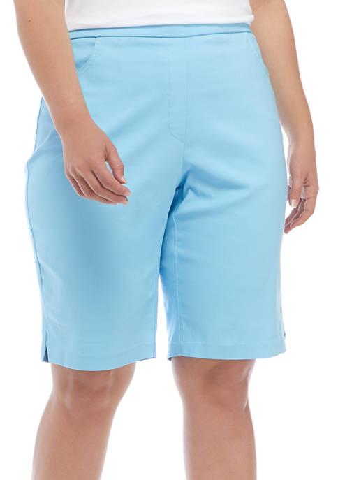 Alfred Dunner Plus Size Americana Bermuda Shorts