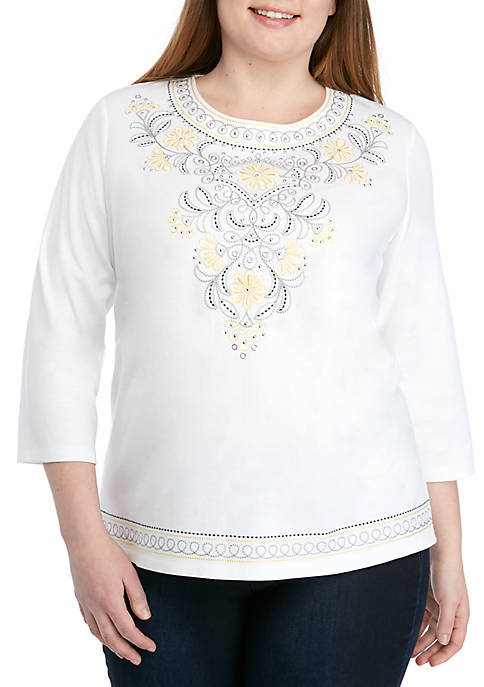 Alfred Dunner Plus Size Native New Yorker Scroll