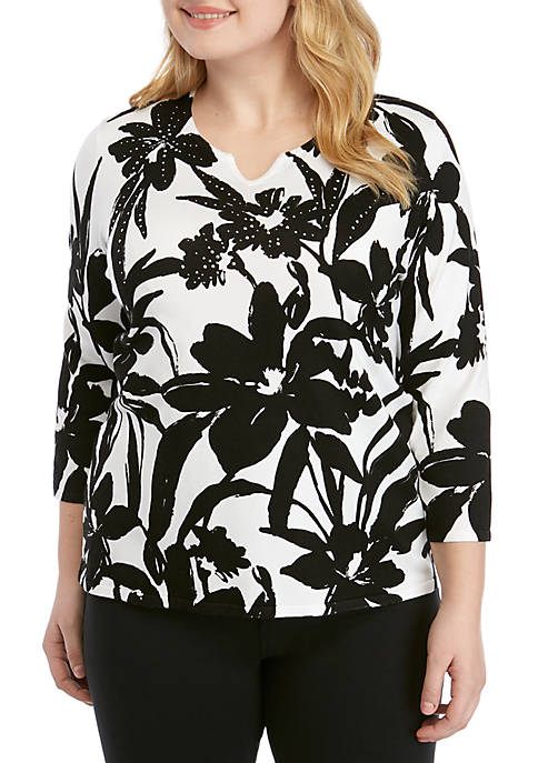 Alfred Dunner Plus Size Native New Yorker Monotone