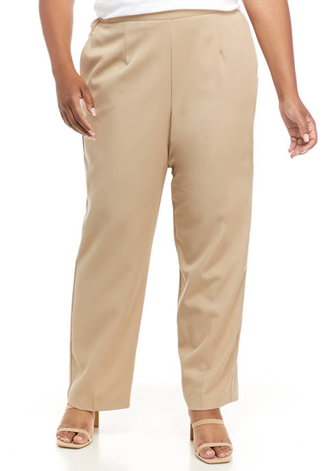 Alfred Dunner Plus Size Proportioned Short Length Pants