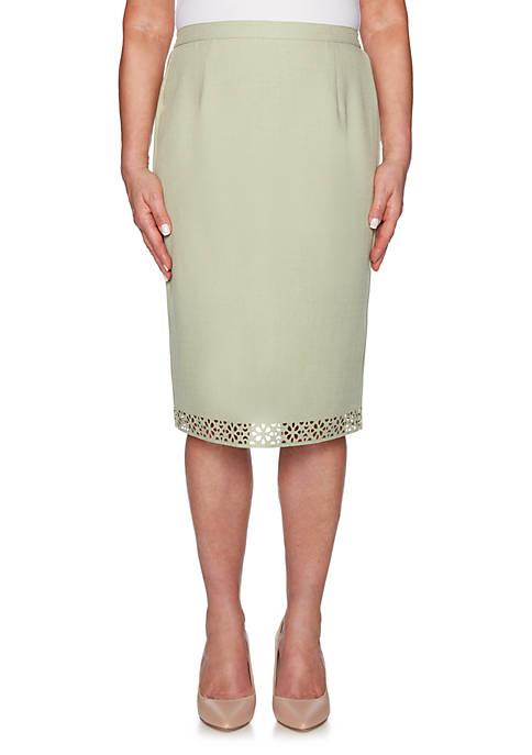 Alfred Dunner South Hampton Laser Cut Skirt