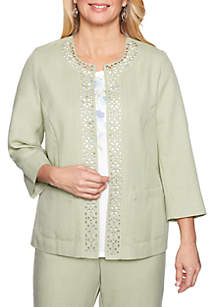 Alfred Dunner South Hampton Laser Cut Jacket