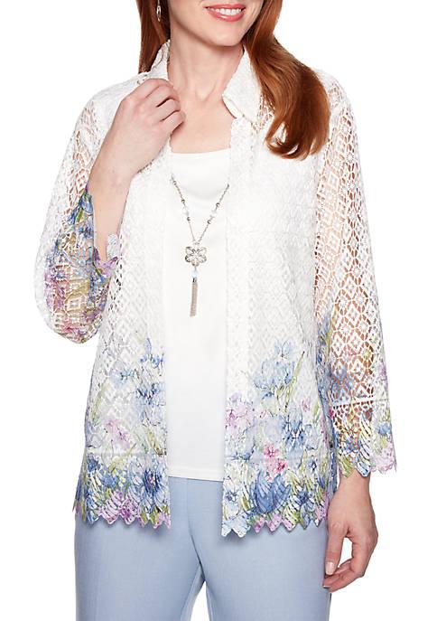 Lace Floral 2Fer Top