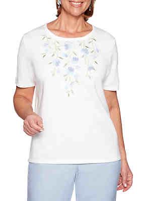 35f66f2388e2d Alfred Dunner South Hampton Floral Yoke Sweater ...