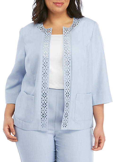 Alfred Dunner Plus Size South Hampton Laser Cut