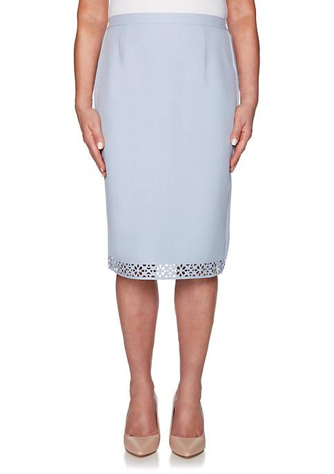 Alfred Dunner Petite South Hampton Laser Cut Skirt