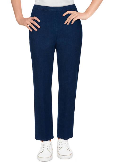 Womens Bryce Canyon Denim Straight Leg Medium Length Pants