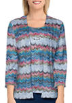 Womens Bryce Canyon Casual Textured Two for One Top with Necklace