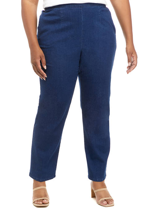 Alfred Dunner Plus Size Bryce Canyon Denim Straight