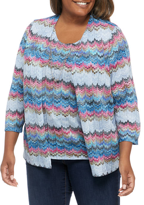 Alfred Dunner Plus Size Bryce Canyon Casual Textured