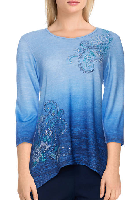 Alfred Dunner Petite Bryce Canyon Ombré Paisley
