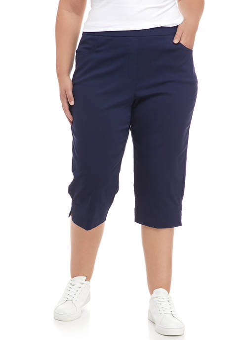 Alfred Dunner Plus Size Pull On Capri Pants