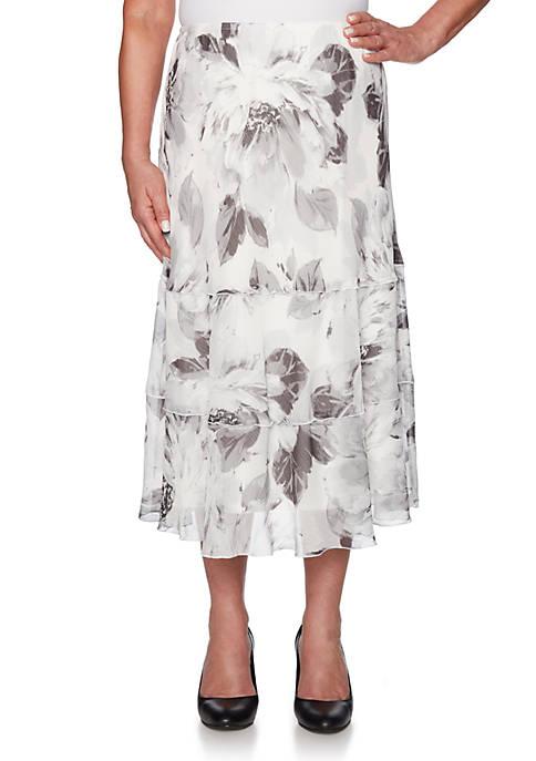 Alfred Dunner Versailles Brush Stroke Floral Skirt