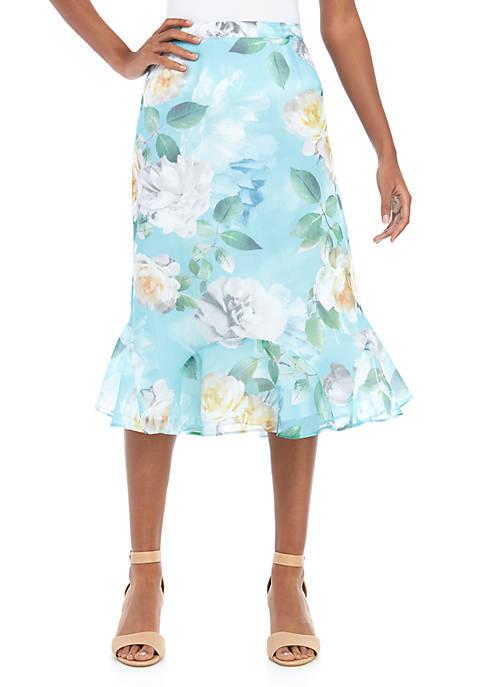 Alfred Dunner Vers Godset Roses Skirt