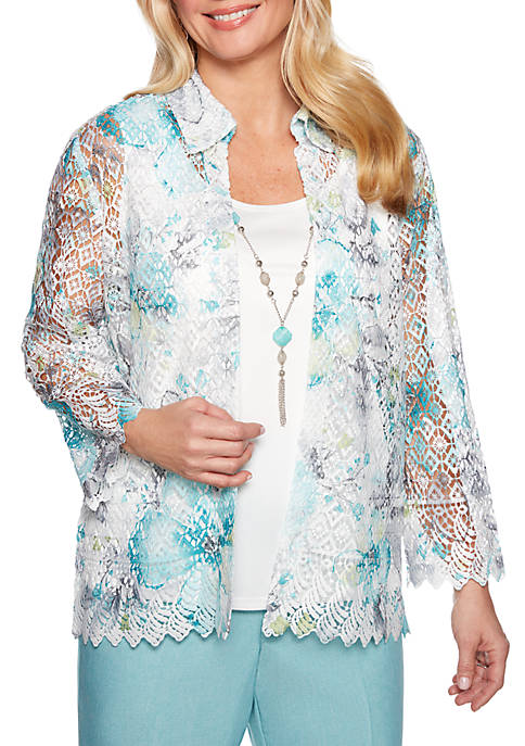 Alfred Dunner Versailles Printed Lace 2Fer