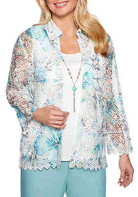 0381526f536c Alfred Dunner Versailles Printed Lace 2Fer ...