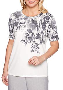 Alfred Dunner Versailles Brushstroke Floral Sweater