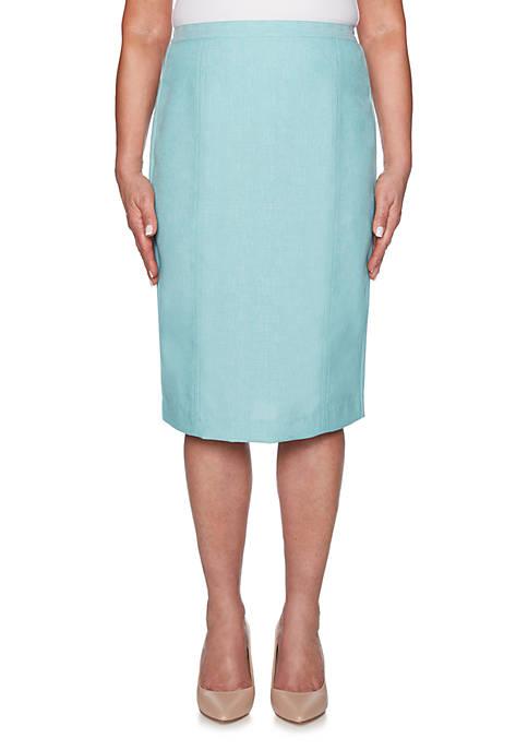 Alfred Dunner Petite Versailles Trouser Skirt