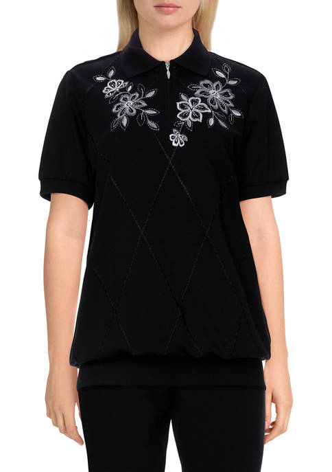 Alfred Dunner Womens Missy Easy Living Casual Floral