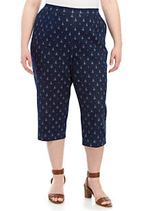 Alfred Dunner Plus Size Sailboat Capris