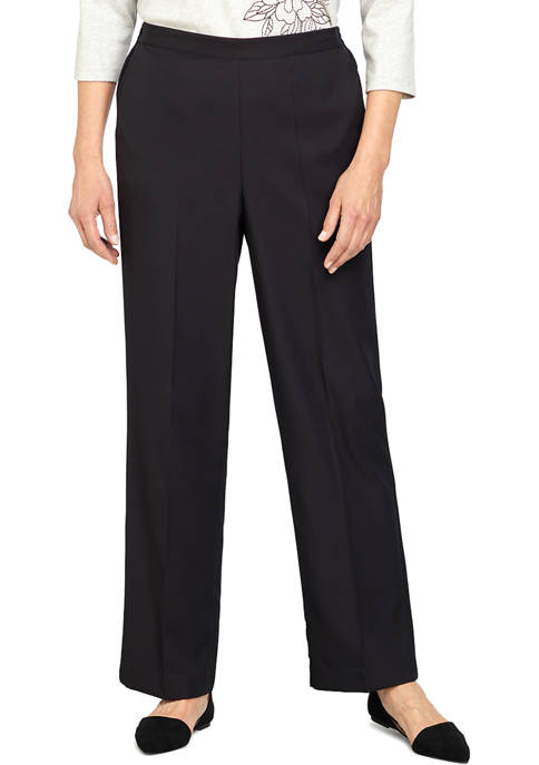 Alfred Dunner Womens Battery Park Proportioned Medium Pants