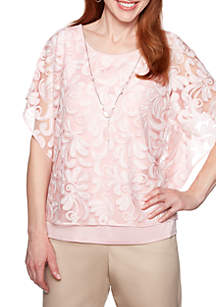 Alfred Dunner Society Page Floral Lace 2Fer