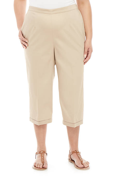 Alfred Dunner Plus Size Society Page Capris