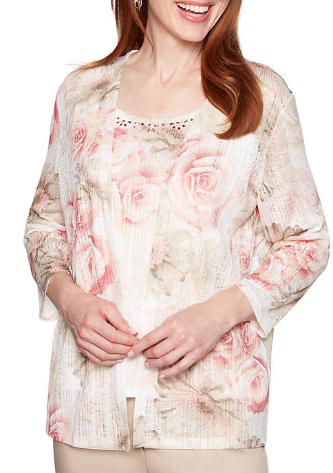 Alfred Dunner Petite Society Page Floral 2Fer