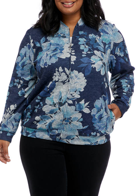 Alfred Dunner Plus Size Relax & Enjoy Floral