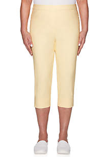 Alfred Dunner Endless Weekend Clam Digger Crop Pants