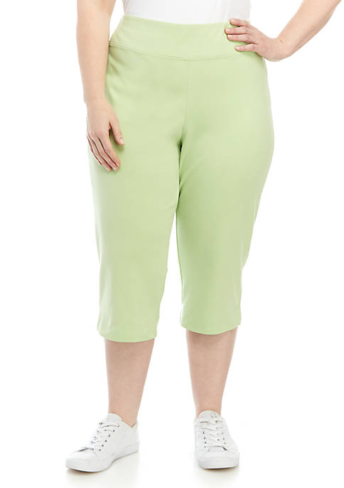 Alfred Dunner Plus Size Endless Weekend Capris