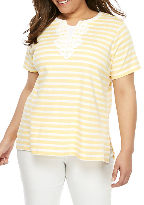Alfred Dunner Plus Size Endless Weekend Knit T