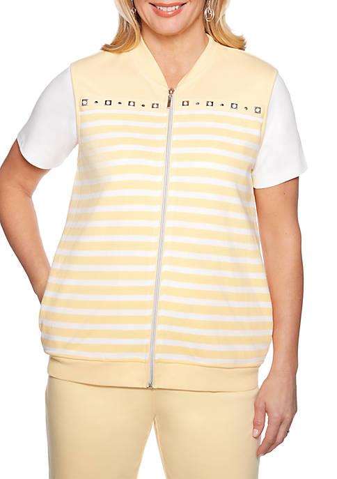 Petite Endless Weekend Stripe Vest