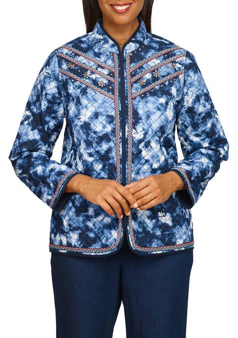 Alfred Dunner Mesa Verde Tie Dye Jacket