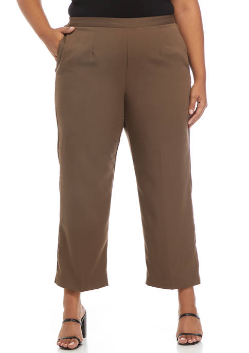 Alfred Dunner Plus Size Mesa Verde Twill Short