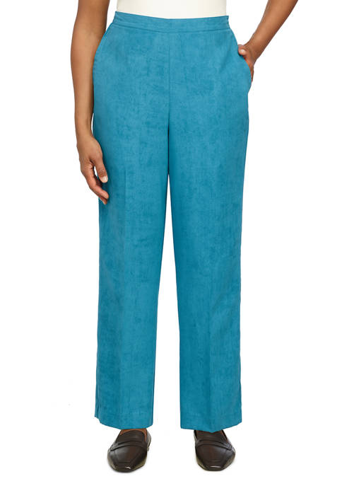 Alfred Dunner Womens Suede Short Pants