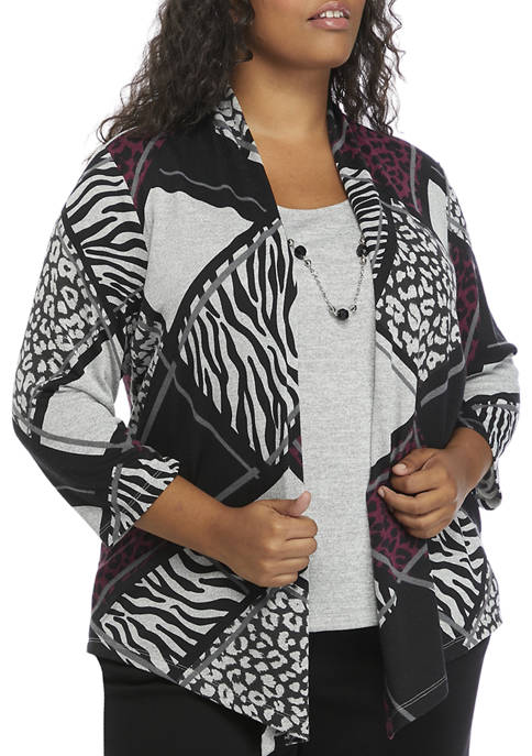 Alfred Dunner Plus Size Alexander Valley Animal Print