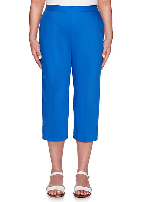 Alfred Dunner Petite Wak Lattice Cuff Capri Pants