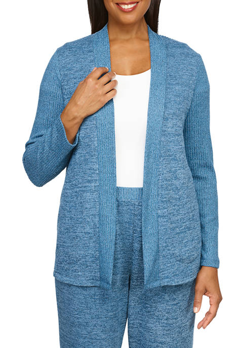 Alfred Dunner Womens Knit Cardigan