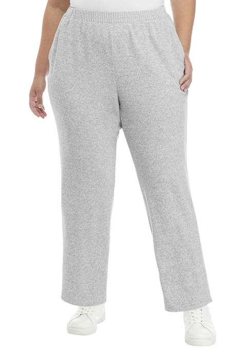 Alfred Dunner Plus Size Proportioned Short Joggers