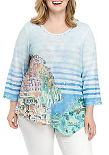 cc45f43d2a ... Shirt · Alfred Dunner Plus Size Monterey Scenic Knit Top