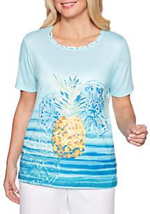 Alfred Dunner St. Kitts Pineapple Top