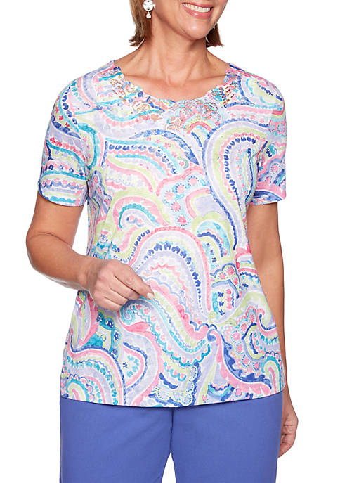 Alfred Dunner St. Kitts Paisley Top