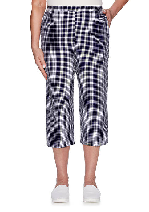 Alfred Dunner Check Please Check Print Capris